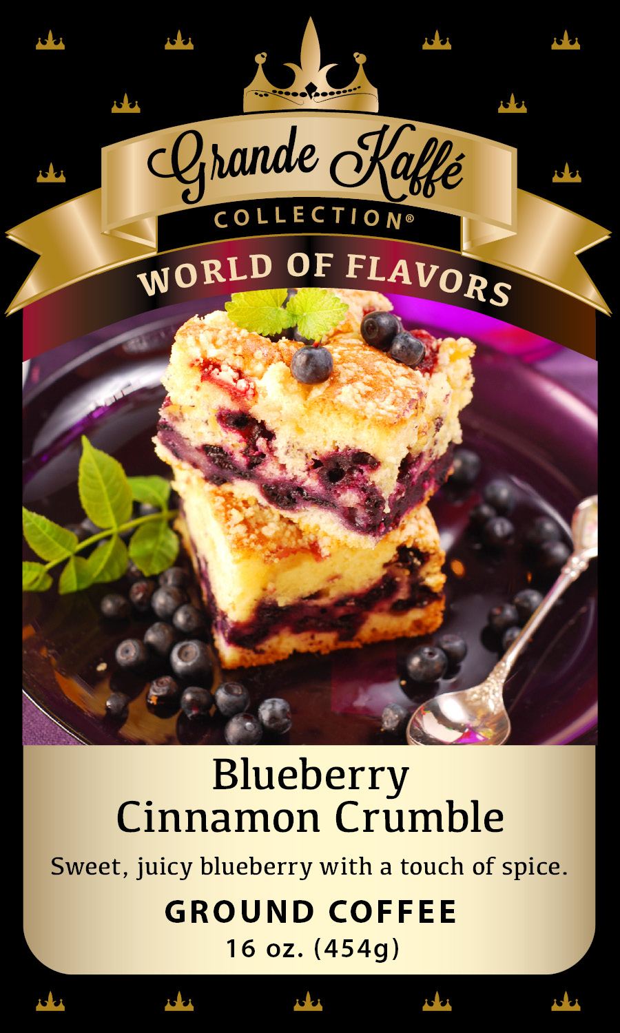 Blueberry Cinnamon Crumble Coffee | Grande Kaffe