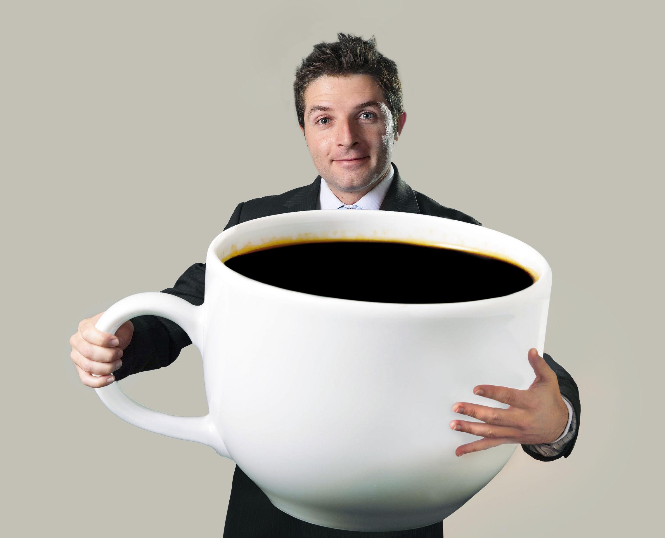 ведь действительно картинка очень большая кружка кофе так как